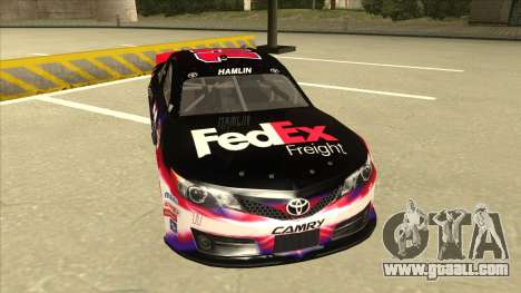 Toyota Camry NASCAR No. 11 FedEx Freight for GTA San Andreas left view