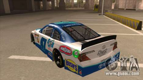 Toyota Camry NASCAR No. 47 Scott for GTA San Andreas back view