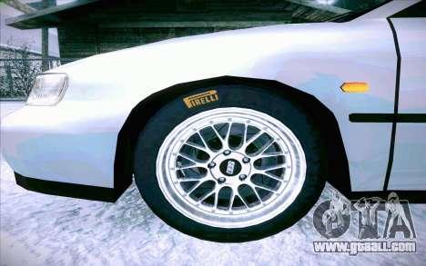 Honda Accord Wagon for GTA San Andreas bottom view