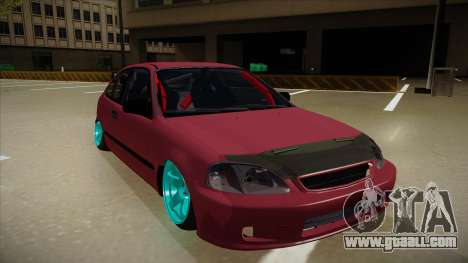 Honda Civic EK9 Drift Edition for GTA San Andreas left view