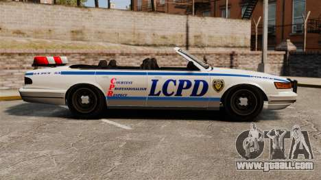 The convertible version of the Police for GTA 4 left view