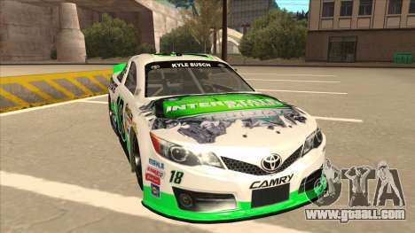 Toyota Camry NASCAR No. 18 Interstate Batteries for GTA San Andreas left view