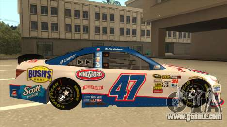 Toyota Camry NASCAR No. 47 Kingsford for GTA San Andreas back left view