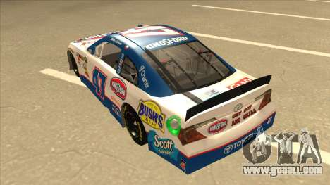 Toyota Camry NASCAR No. 47 Kingsford for GTA San Andreas back view