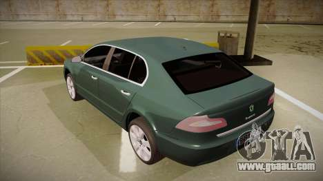 Skoda SuperB 2009 for GTA San Andreas back view