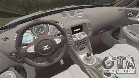 Nissan 370Z for GTA 4 inner view