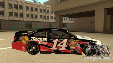 Chevrolet SS NASCAR No. 14 Mobil 1 Tracker Boats for GTA San Andreas back left view