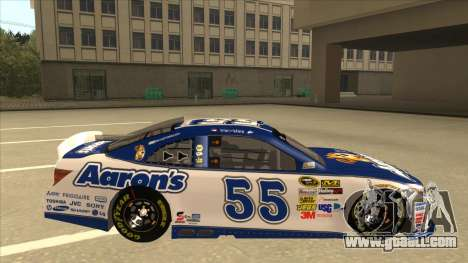 Toyota Camry NASCAR No. 55 Aarons DM white-blue for GTA San Andreas back left view