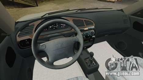 Daewoo Lanos 1997 PL for GTA 4 inner view