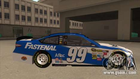 Ford Fusion NASCAR No. 99 Fastenal Aflac Subway for GTA San Andreas back left view