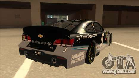 Chevrolet SS NASCAR No. 5 Time Warner Cable for GTA San Andreas right view