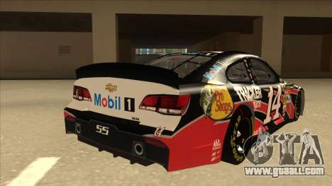 Chevrolet SS NASCAR No. 14 Mobil 1 Tracker Boats for GTA San Andreas right view