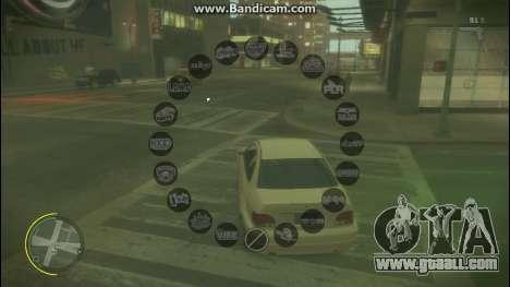 GTA V Radio HUD for GTA 4 second screenshot