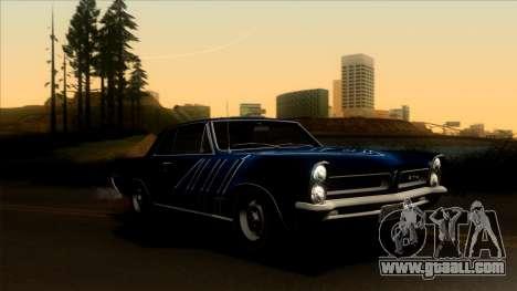 Pontiac Tempest LeMans GTO Hardtop Coupe 1965 for GTA San Andreas interior