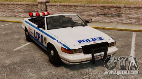 The convertible version of the Police for GTA 4