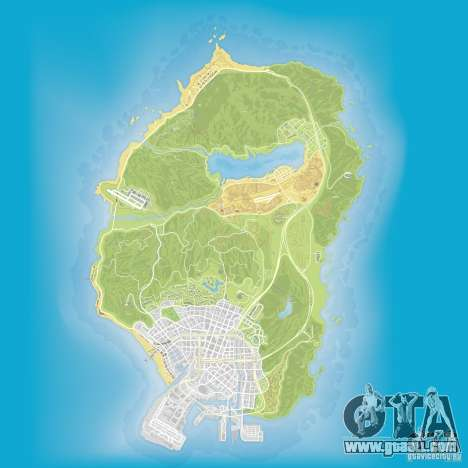 GTA V atlas map for GTA San Andreas third screenshot