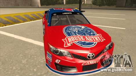 Toyota Camry NASCAR No. 47 House-Autry for GTA San Andreas left view