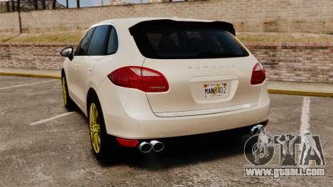 Porsche Cayenne Turbo 2012 v3.5 for GTA 4 back left view