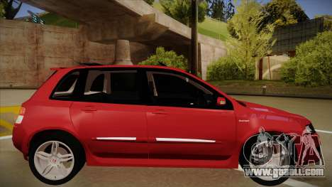 FIAT Stilo Sporting 2009 for GTA San Andreas back left view