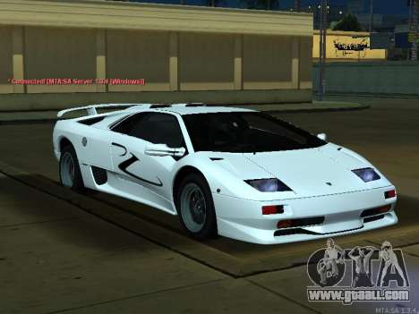 Lamborghini Diablo SV v2 for GTA San Andreas right view