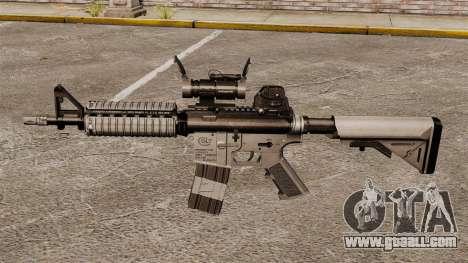 Automatic carbine M4 CQBR v2 for GTA 4 third screenshot