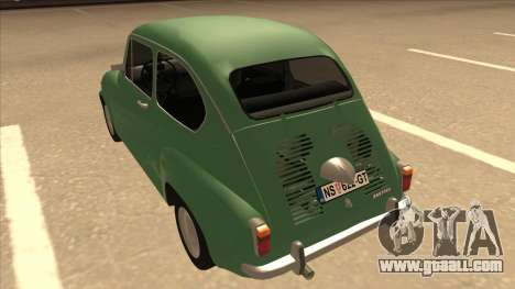 Zastava 750 Classic for GTA San Andreas back view