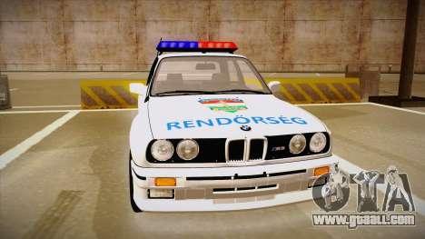 BMW M3 E30 Rendőrség for GTA San Andreas left view