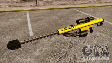 The Barrett M82 sniper rifle v3 for GTA 4 third screenshot