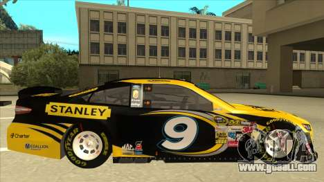 Ford Fusion NASCAR No. 9 Stanley DeWalt for GTA San Andreas back left view