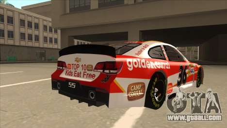 Chevrolet SS NASCAR No. 36 Golden Corral for GTA San Andreas right view