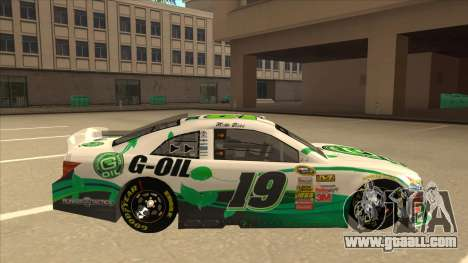 Toyota Camry NASCAR No. 19 G-Oil for GTA San Andreas back left view