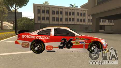 Chevrolet SS NASCAR No. 36 Golden Corral for GTA San Andreas back left view