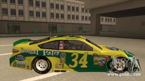 Ford Fusion NASCAR No. 34 Peanut Patch for GTA San Andreas back left view