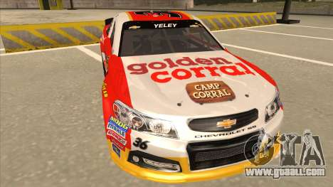 Chevrolet SS NASCAR No. 36 Golden Corral for GTA San Andreas left view