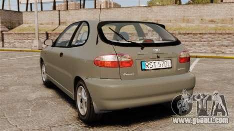 Daewoo Lanos 1997 PL for GTA 4 back left view