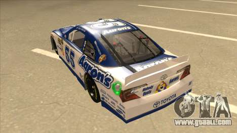 Toyota Camry NASCAR No. 55 Aarons DM white-blue for GTA San Andreas back view