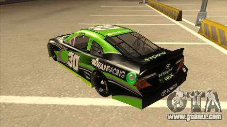 Toyota Camry NASCAR No. 30 Widow Wax for GTA San Andreas back view