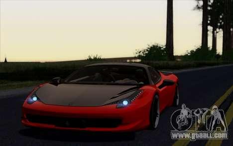 Ferrari 458 Italia Novitec Rosso Carbon for GTA San Andreas