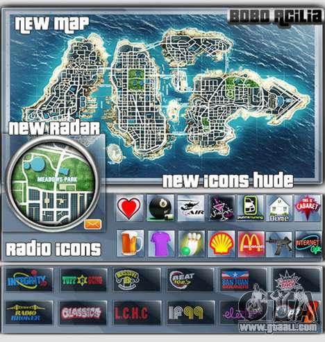Map-Radar-HUD Pack for GTA 4
