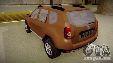 Dacia Duster Elite for GTA San Andreas back view