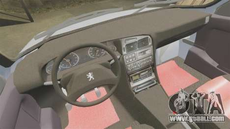 Peugeot 405 GLX Final for GTA 4 inner view