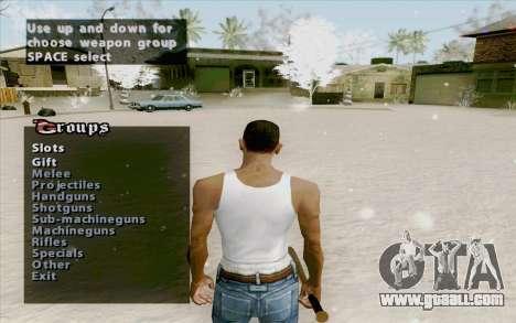 Weapons Menu Mod for GTA San Andreas