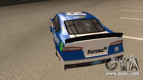 Ford Fusion NASCAR No. 99 Fastenal Aflac Subway for GTA San Andreas back view