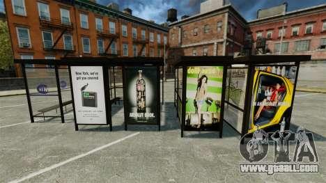 Real advertising at bus stops for GTA 4