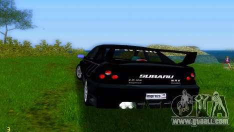 Subaru Impreza WRX v1.1 for GTA Vice City right view
