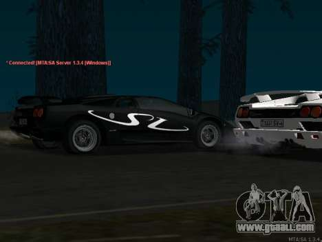 Lamborghini Diablo SV v2 for GTA San Andreas back left view