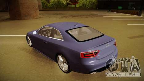 Audi S5 for GTA San Andreas back view