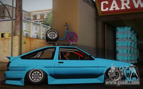 Toyota Corolla AE86 Helladrift for GTA San Andreas right view