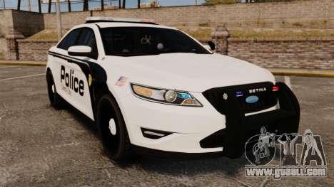 Ford Taurus Police Interceptor 2011 [ELS] for GTA 4