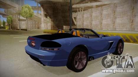 Dodge Viper v1 for GTA San Andreas right view